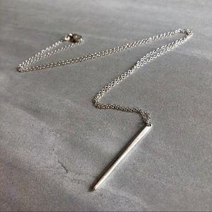 Jewelry - Minimalist 925 Silver Bar Necklace